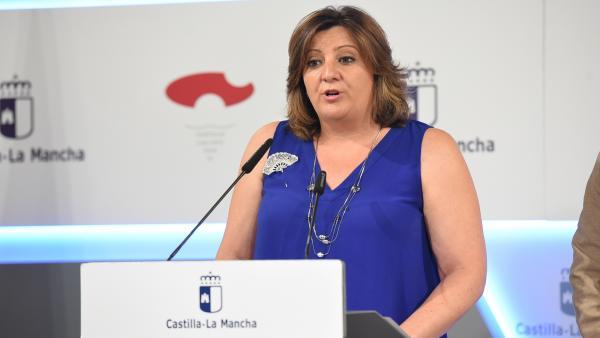La consejera de Empleo, Patricia Franco, en rueda de prensa.
