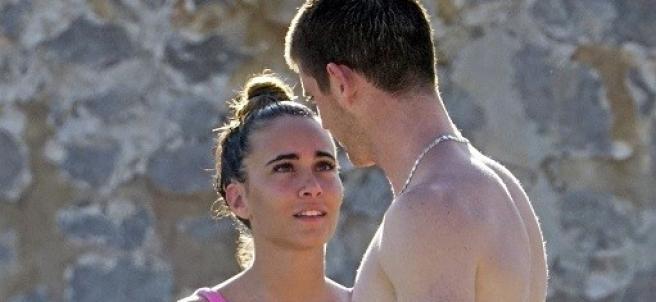 Aitana Ocaña y Miguel Bernardeau, en Ibiza.