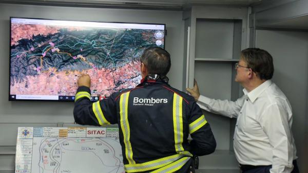 Estabilitzat l'incendi de Beneixama (Alacant), que ha afectat entre 850 i 900 hectàrees
