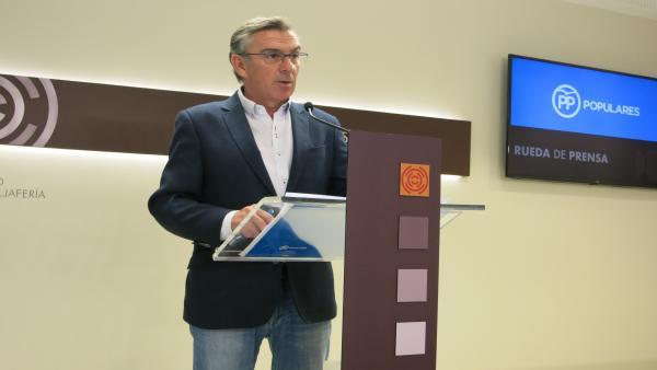 El portavoz del Grupo Parlamentario Popular, Luis María Beamonte