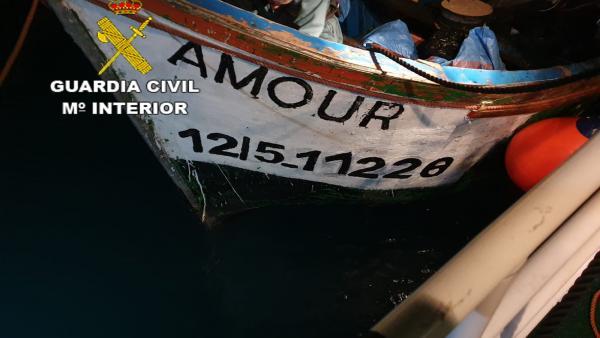 Patera que llegó a Arguineguín el sábado 15 de junio