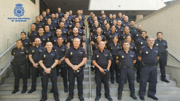 Algunos de los nuevos policías nacionales en prácticas en Baleares