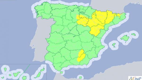Mapa de alertas por tormentas