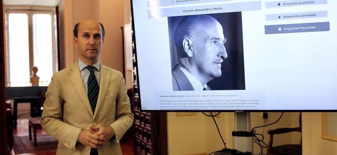 Jaime Olmedo, director técnico del Diccionario Biográfico.