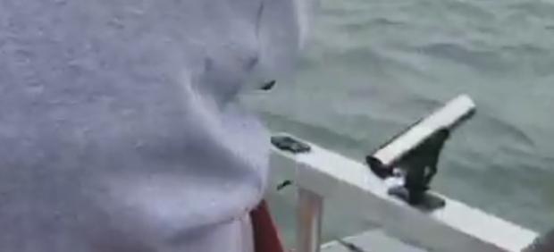 Pescan una pieza inesperada después de 3km de lucha