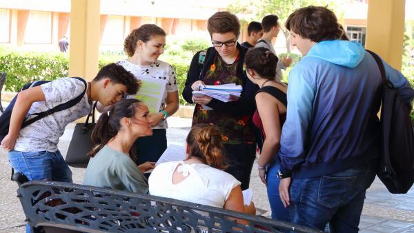 Estudiantes de la UPO, en un imagen de archivo.