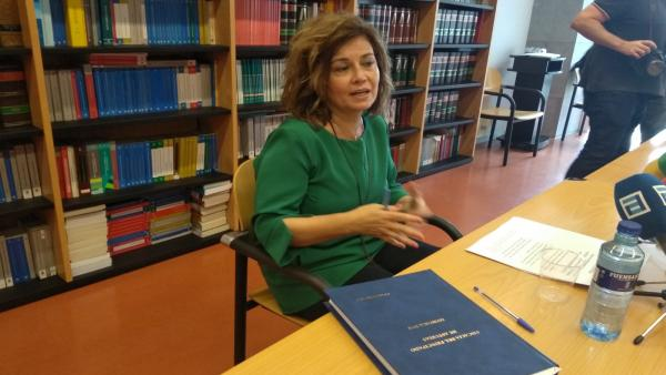 La Fiscal Superior de Asturias. Esther Fernández, presenta estadísticas contenidas en la Memoria de 2018.