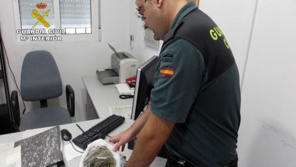 Imagen de las dosis de marihuana intervenidas
