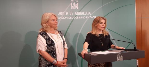 Ana Mestre y Mercedes Colombo durante la rueda de prensa