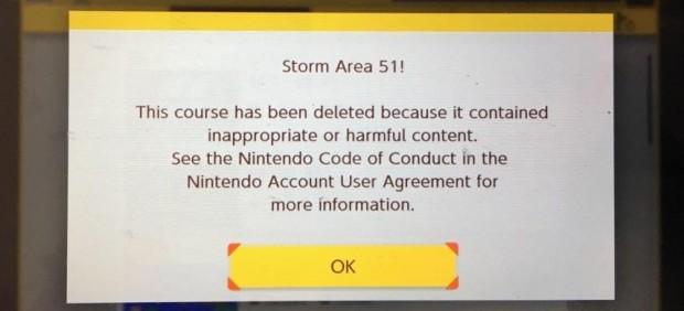 Aviso de que el nivel 'Storm Area 51!' ha sido eliminado por