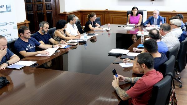 Reunión de la Mesa Sectorial de Policía Local presidida por la alcaldesa, Gema Igual