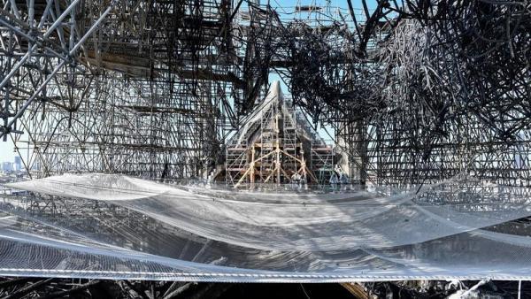 Notre Dame, tres meses después del incendio