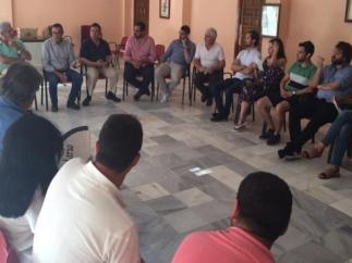 Ignacio Caraballo participa en el encuentro de secretarios generales, portavoces, alcaldes y alcaldesas de la zona tras las pasadas elecciones municipales