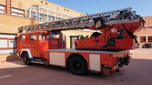 Camión de bomberos de 1981 en Salamanca.