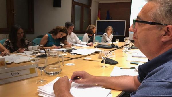 El  secretario general de UPA-UCe, Ignacio Huertas, en una sectorial en el Ministerio de Agricultura