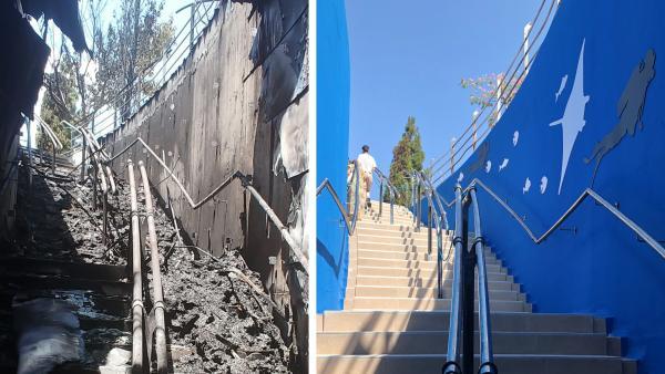 Comparativa de cómo han quedado las escaleras