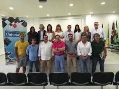 La delegada de Turismo, María Ángeles Muriel, se reúne con agentes del turismo en el Andévalo.