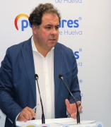 El portavoz de la Dirección del PP de Huelva, Juan Carlos Duarte.