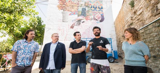 Presentanción del mural de Nicolás Romero