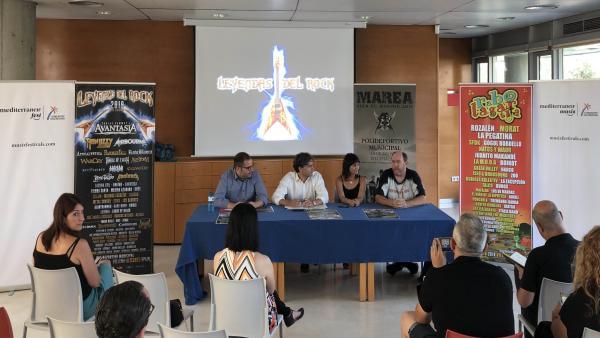 Presentación de los festivales Leyendas del Rock y Rabolagartija Fest