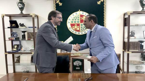 Firma del protocolo entre la UJA y la Universidad de Asuán