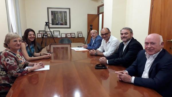 Carolina Pascual y Ana Barceló se reúnen con los rectores de la UA y la UMH