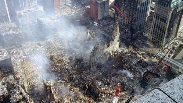 Escombros del World Trade Center, la llamada Zona Cero, tras los atentados del 11 de septiembre de 2001 en Nueva York.