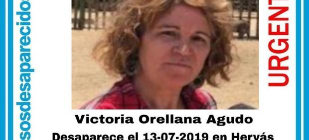 Victoria Orellana Agudo, desaparecida en Hervás el 13 de julio