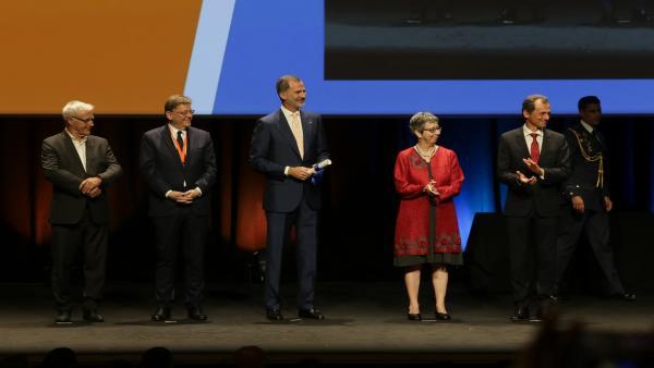 Ximo Puig y el Rey Felipe VI en un acto en València