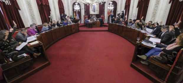 Pleno de enero de 2019 del Ayuntamiento de Cádiz
