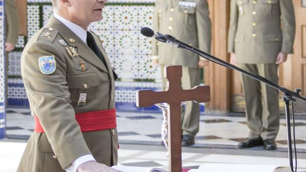 El General Fernando Maté, en la toma de posesión de la Jefatura del Estado Mayor del Mando de Canarias
