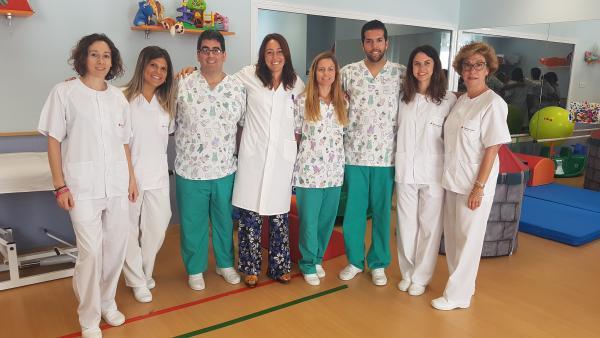 Profesionales del Hospital Victoria Eugenia en una foto de archivo.