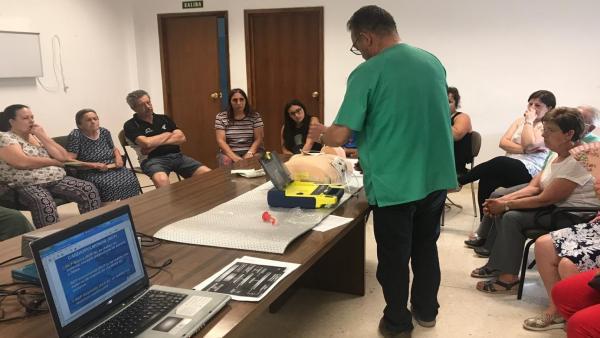 Taller de primeros auxilios en el Centro de Salud de Alcalá la Real
