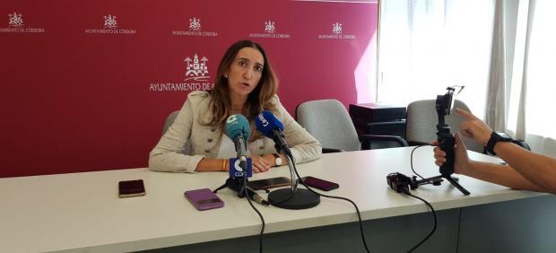 La portavoz de Vox en el Ayuntamiento de Córdoba, Paula Badanelli, en una imagen de archivo.