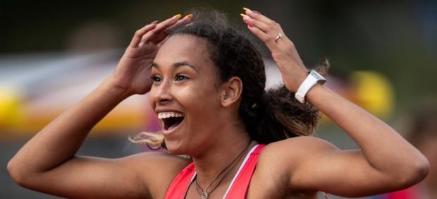 María Vicente oro con récord de heptatlón en Boras