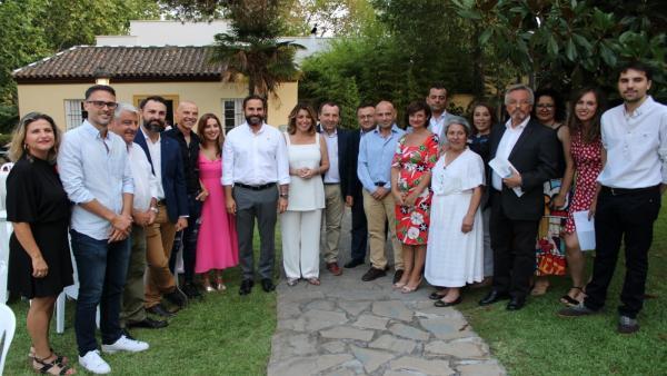 Susana Díaz en un acto en Málaga
