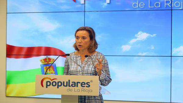 Cuca Gamarra, en la rueda de prensa