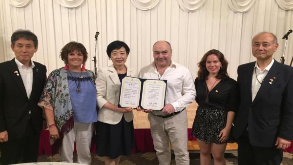 El chef Miguel Barrera, elegido embajador del te por la ciudad japonesa de Ube