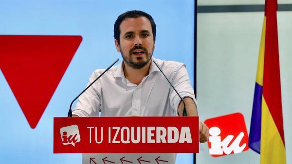 El ccordinador federal de Izquierda Unida, Alberto Garzón