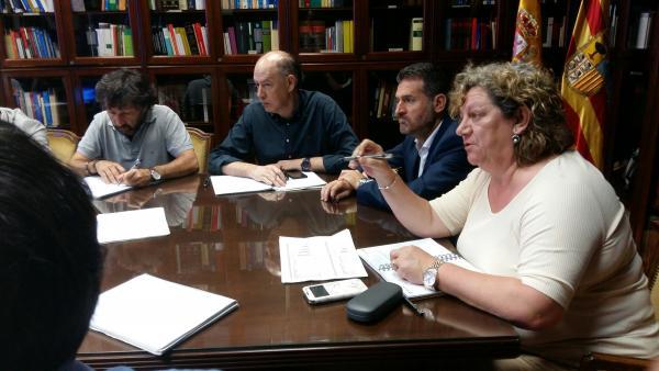 Reunión sobre el nuevo Portal de Servicios a las Personas Jurídicas y Físicas en la sede del TSJ de Aragón.