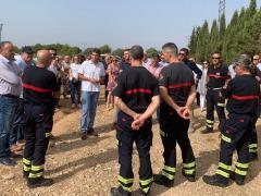Visita a la zona afectada por el incendio de Beneixama
