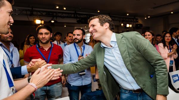Pablo Casado participa en la 'Escuela Miguel Ángel Blanco' que organiza Nuevas Generaciones en Vitoria