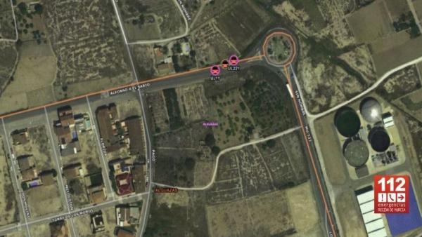 Imagen por satélite del lugar del accidente
