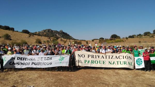 Marcha por la defensa del camino entre Benamahoma y Zahara de la Sierra