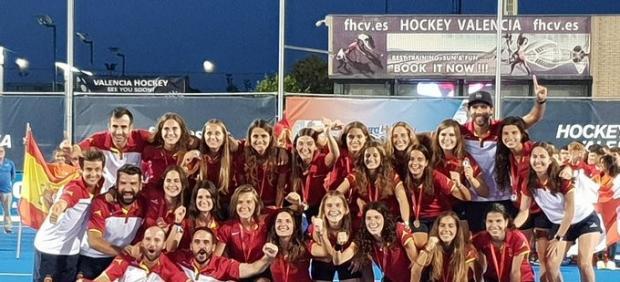 La selección española femenina, campeona del Europeo sub-21 de hockey hierba