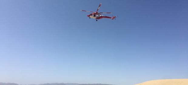 Helicóptero de rescate del Grupo de Emergencias y Salvamento (GES) del Gobierno de Canarias
