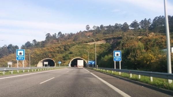 Autovía del Cantábrico a su paso por Asturias.