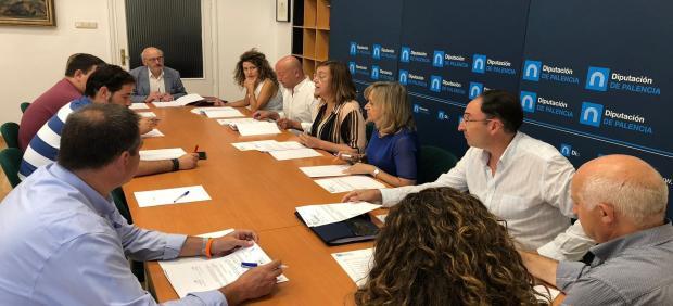 Reunión de la Junta de Gobierno de la Diputación de Palencia.