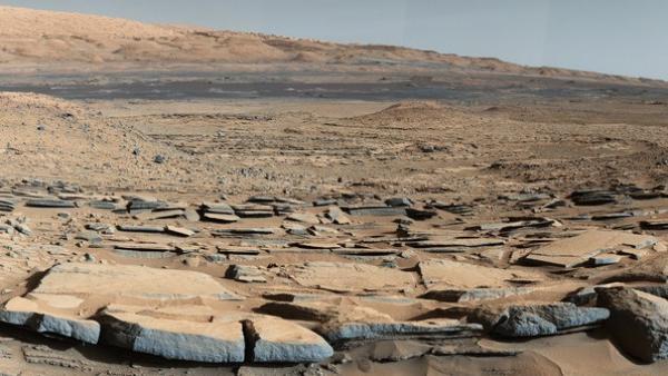 Piso del cráter Gale de Marte