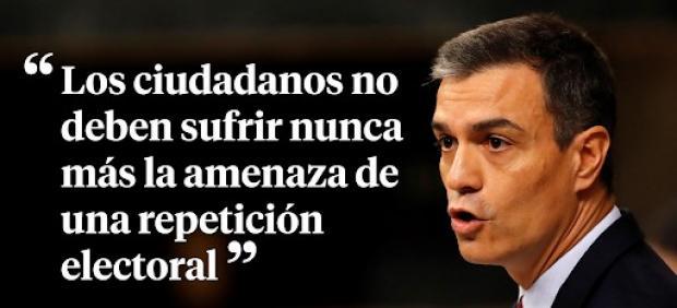 Las frases de Pedro Sánchez durante su intervención en el pleno de investidura